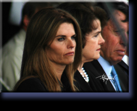 First Lady Maria Shriver and Senator Feinstein