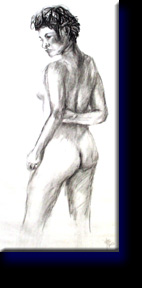 """Lorena Nude"", charcoal on paper."
