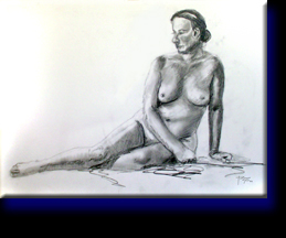 """Martha Nude"", pencil on paper."